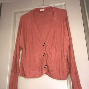 Free people cotton cardigan with buttons